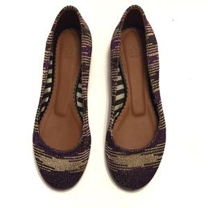 M by Missoni Leather Knit Ballerina Flat